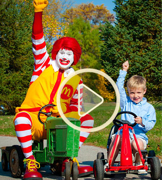Ronald and friend sharing a ride