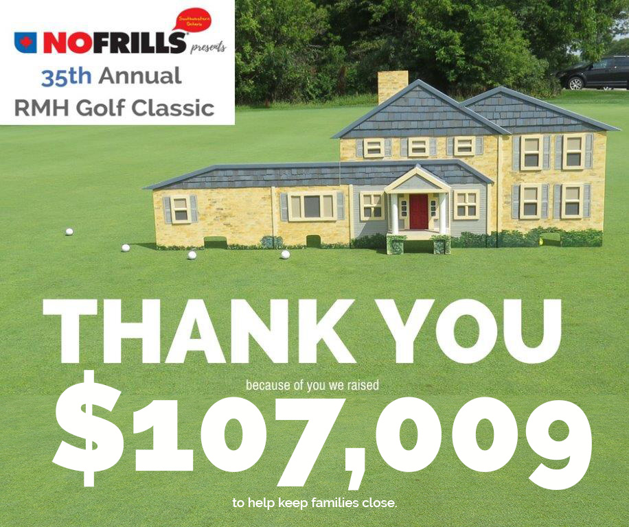 Thank You for helping us raise $107,009 at the Golf Event